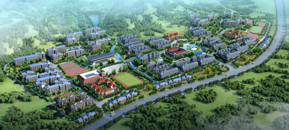 桂林理工大学 空港校区鸟瞰图(效果图)图片